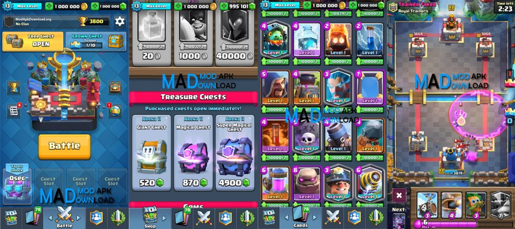 Clash Royale Mod Apk Unlimited Gems