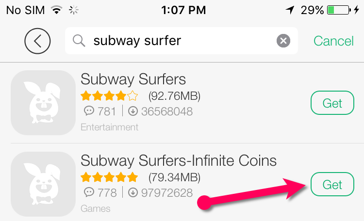 subway surfer infinite coins iOS